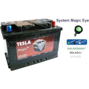 74Ah 680EN 12V TESLAgp Magic+ akum. P+