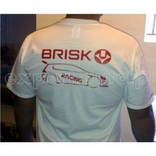 T-Shirt BRISK Racing size XL biała/white